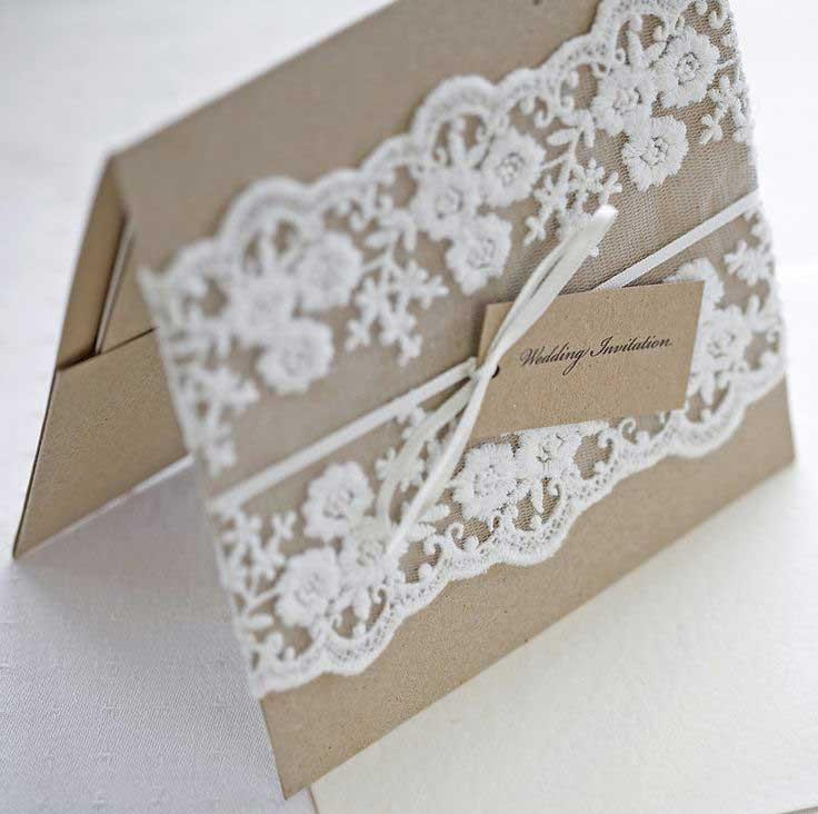 Esempio Partecipazioni Matrimonio: formato rettangolare pieghevole