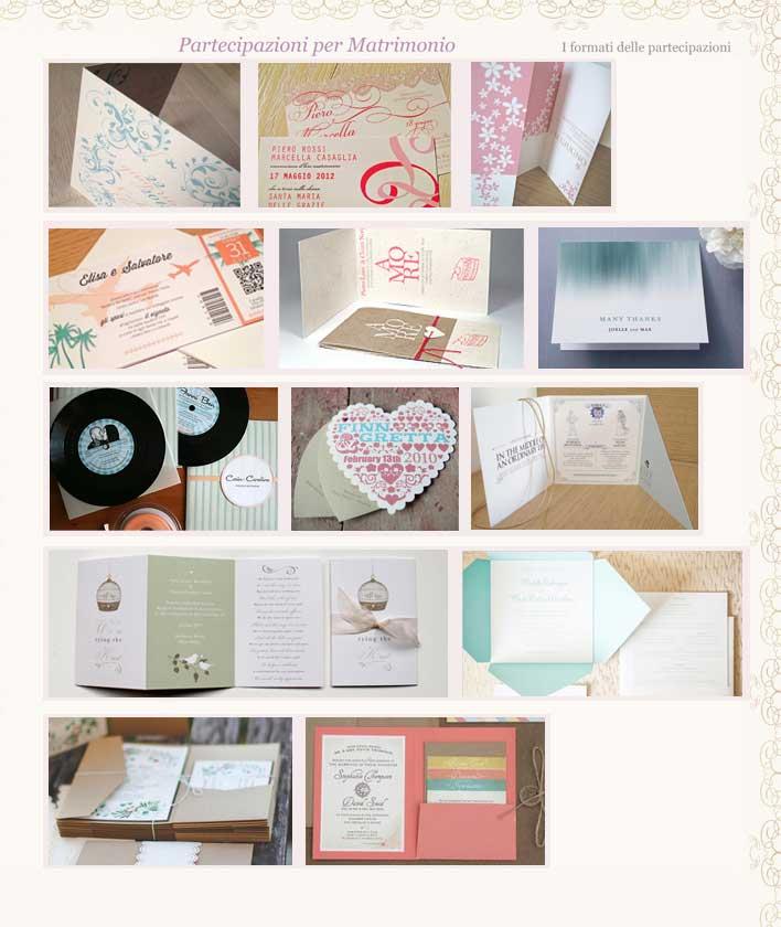 Esempio Partecipazioni Matrimonio: i formati