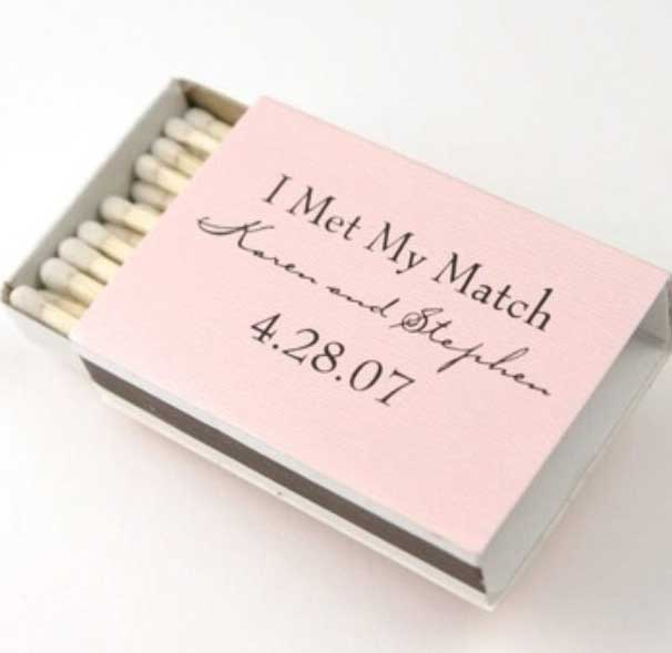 Idee Partecipazioni Matrimonio Fai da te: scatola di fiammiferi