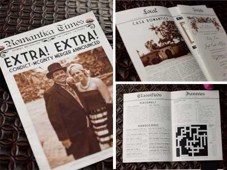Partecipazioni Matrimonio Fai da te: prima pagina di giornale