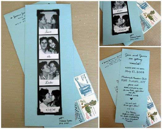 Idee Partecipazioni Matrimonio Fai da te: la foto tessera