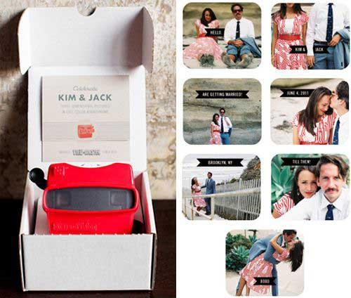Partecipazioni Matrimonio Fai da te: il Box con le diapositive