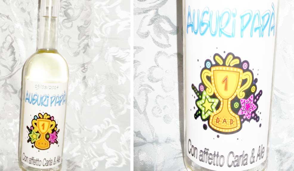 idee regalo festa del papà: vino personalizzato