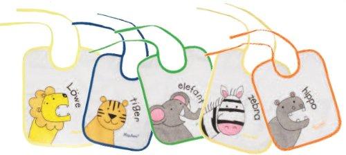 Regali per neonati: Playshoes 507145 Bavaglino 25x20cm Confezione 5 Pezzi