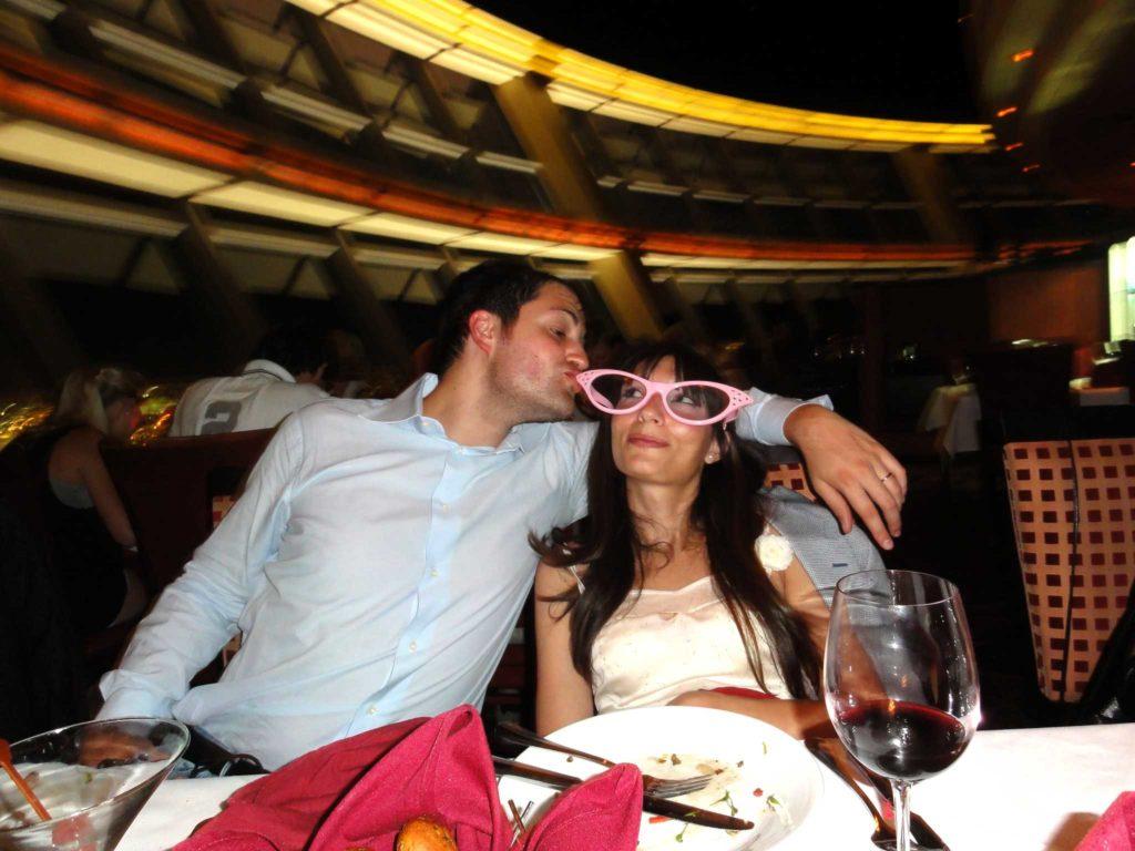 sposarsi a las vegas - marco e rosa al ristorante