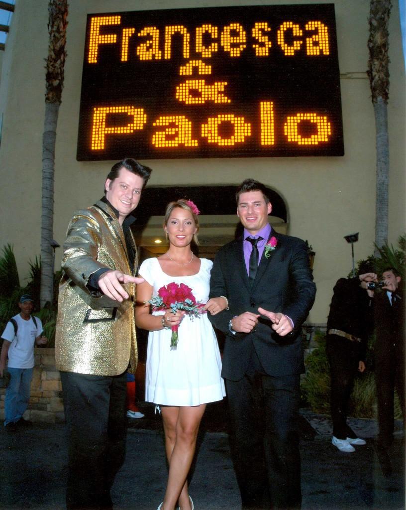 sposarsi a las vegas - Francesca & Paolo uscita sposi
