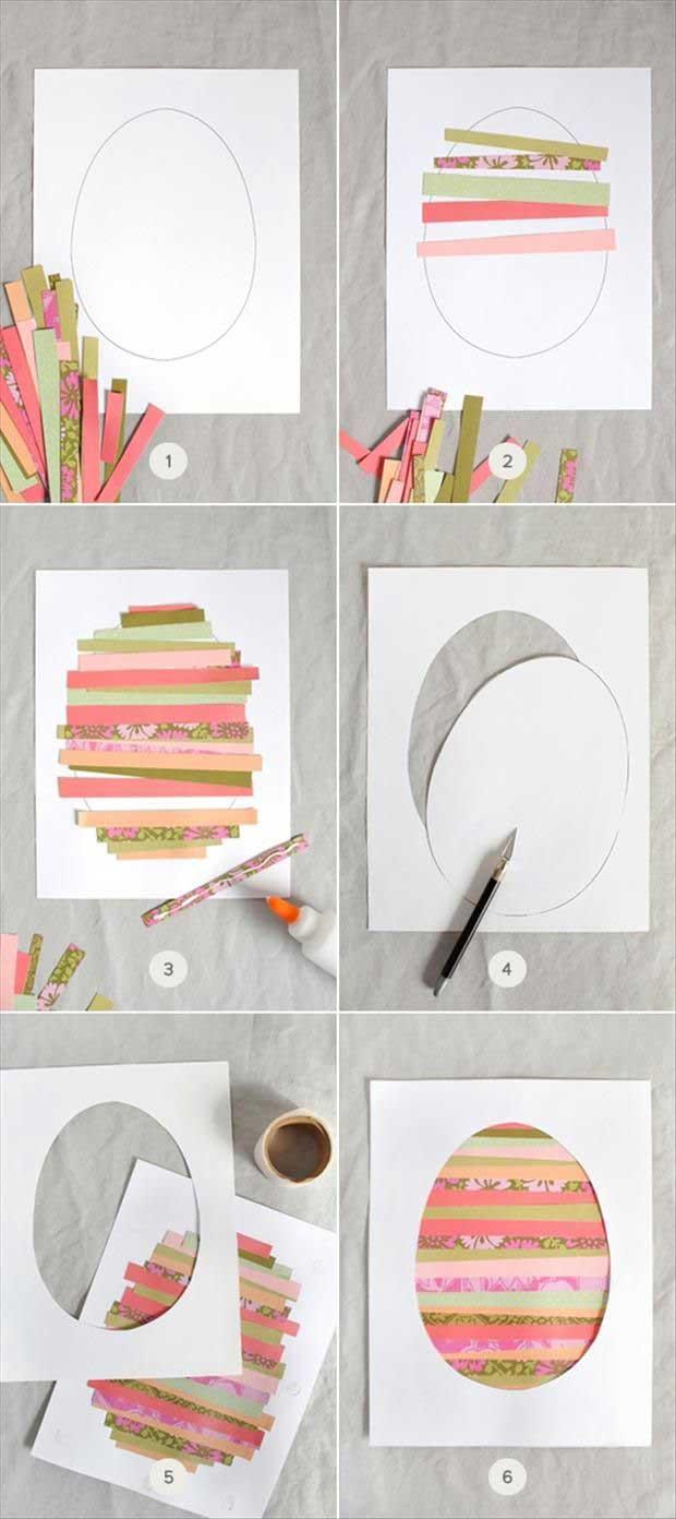 Lavoretti di Pasqua per Bambini: cartolina di auguri fatta a mano