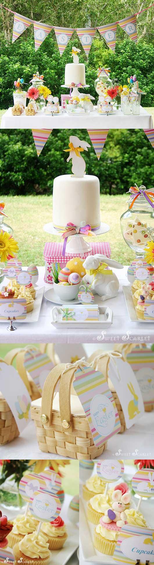 Lavoretti di Pasqua per Bambini: coordinato tavola pasquale