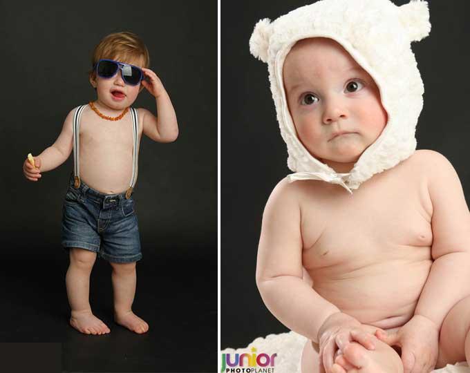 Servizio Fotografico Battesimo: Bimbo in posa con occhiali da sole