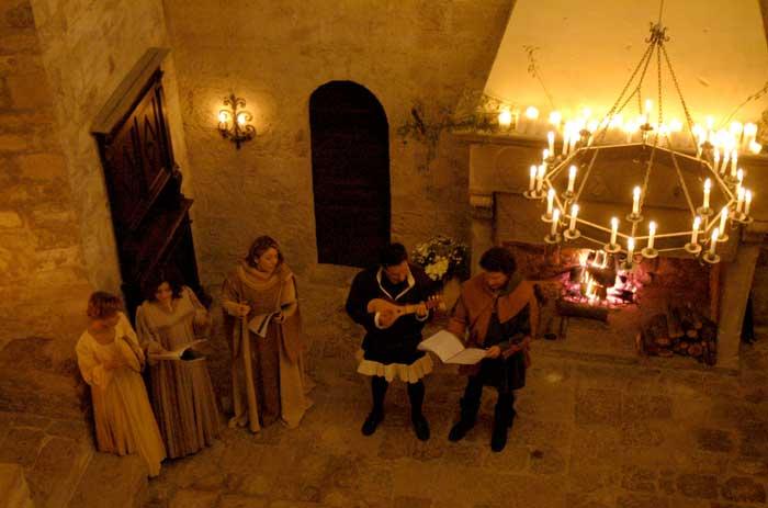 castello in umbria per cena a tema medioevo