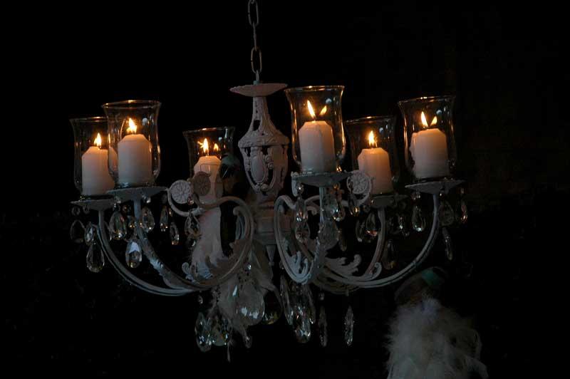 Lampadario con candele per Festa di compleanno a tema
