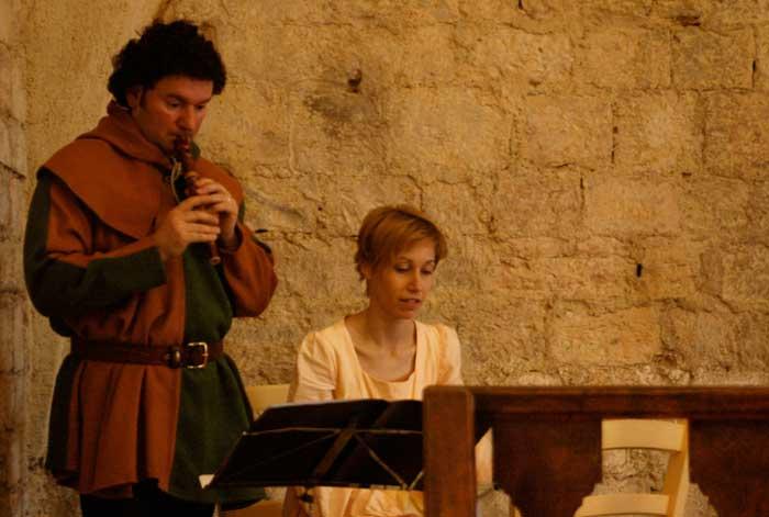 musici medievali per cena a tema