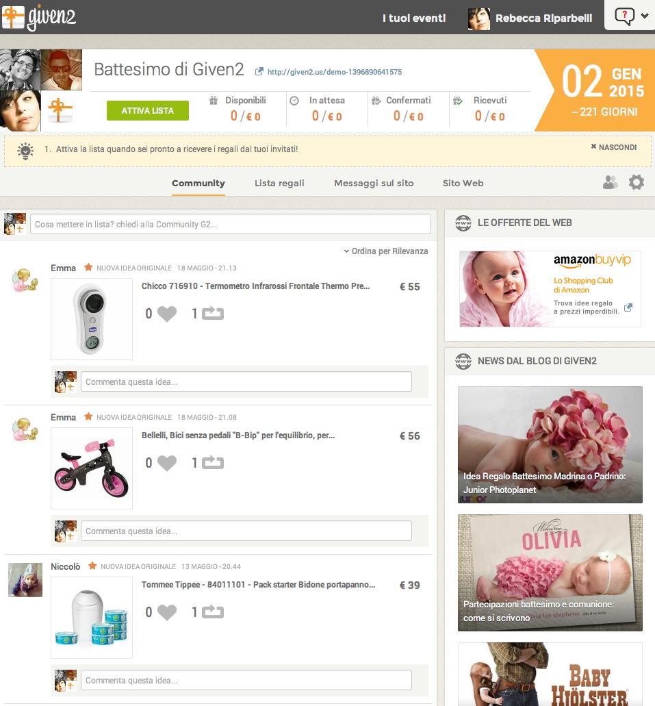 Come trovare idee regalo con il social network di Given2