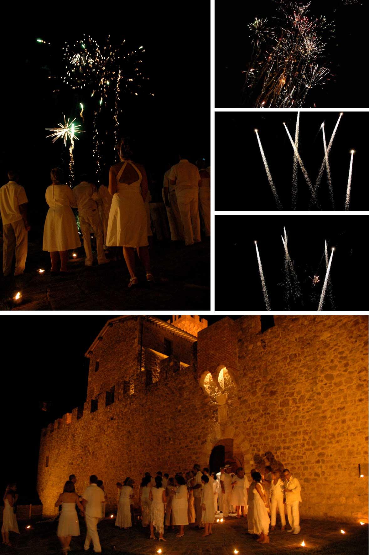 festa di compleanno a tema con fuochi d'artificio
