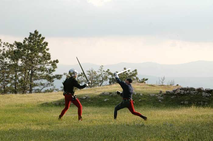 festa a tema: combattimenti medievali