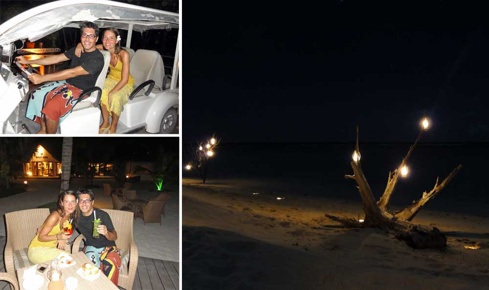 viaggio di nozze maldive: cena in spiaggia