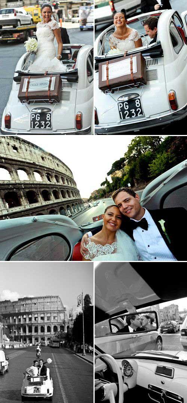 foto di sposi in giro per roma