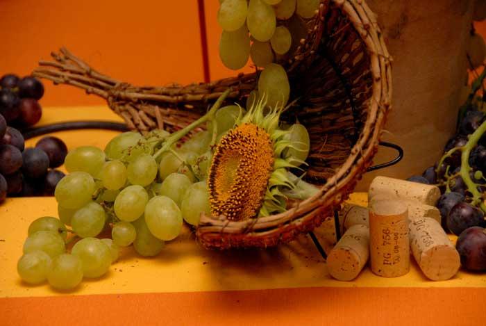 Compleanno 50 Anni - centrotavola per Festa tema vino