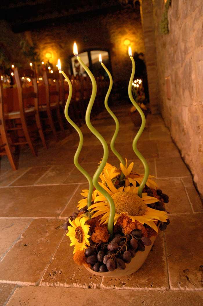 Compleanno 50 Anni: addobbi floreali con i girasoli