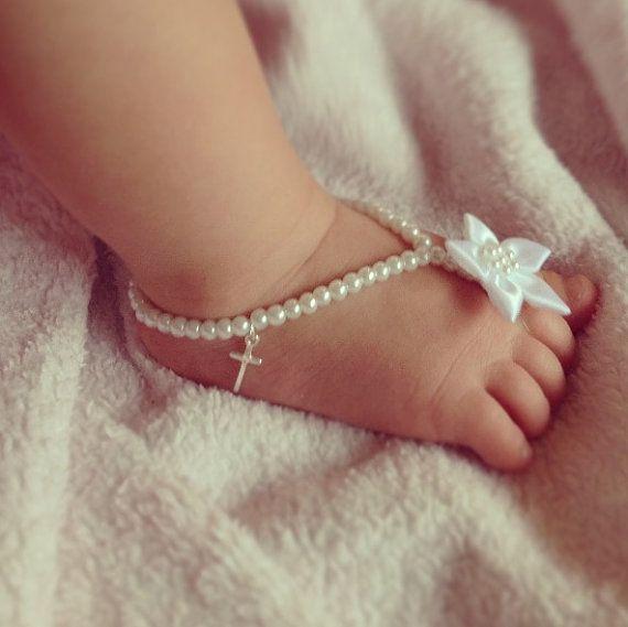Regalo Battesimo Padrino: Infradito di perle