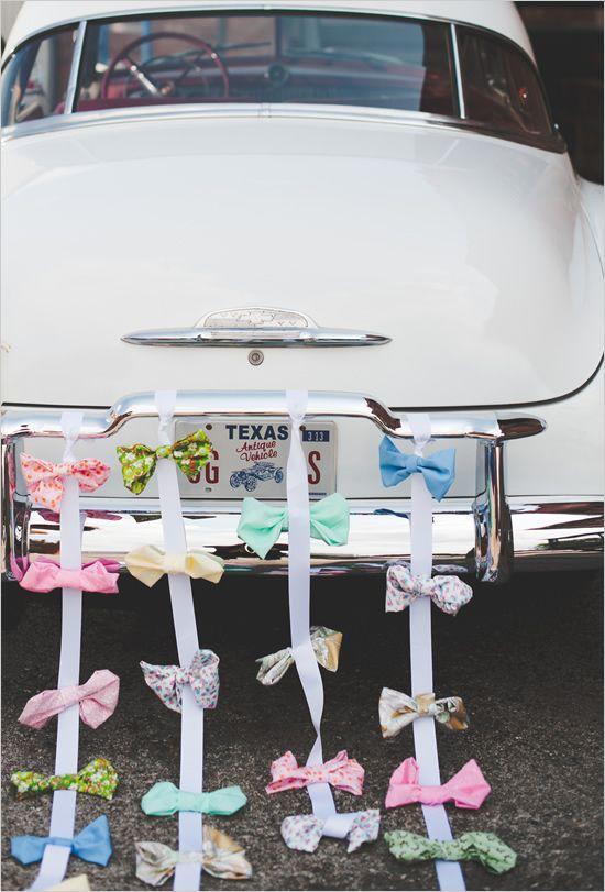 alternativa agli addobbi floreali matrimonio auto degli sposi