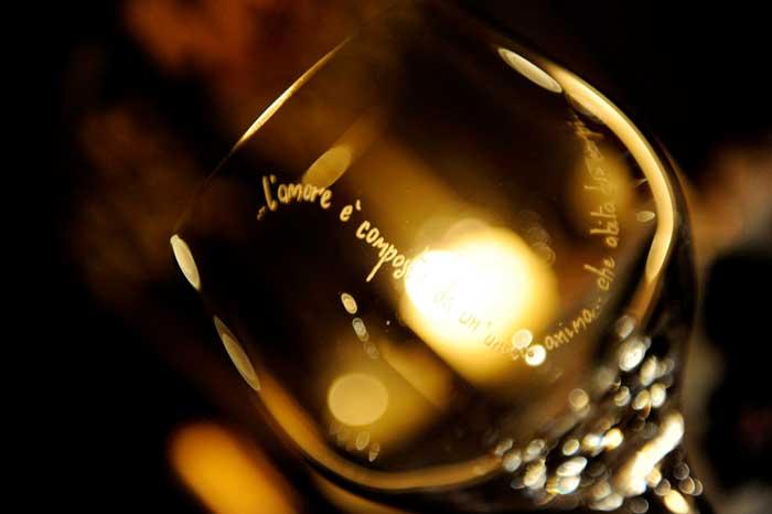 Matrimonio Country Tema Vino: Bicchieri incisi a mano