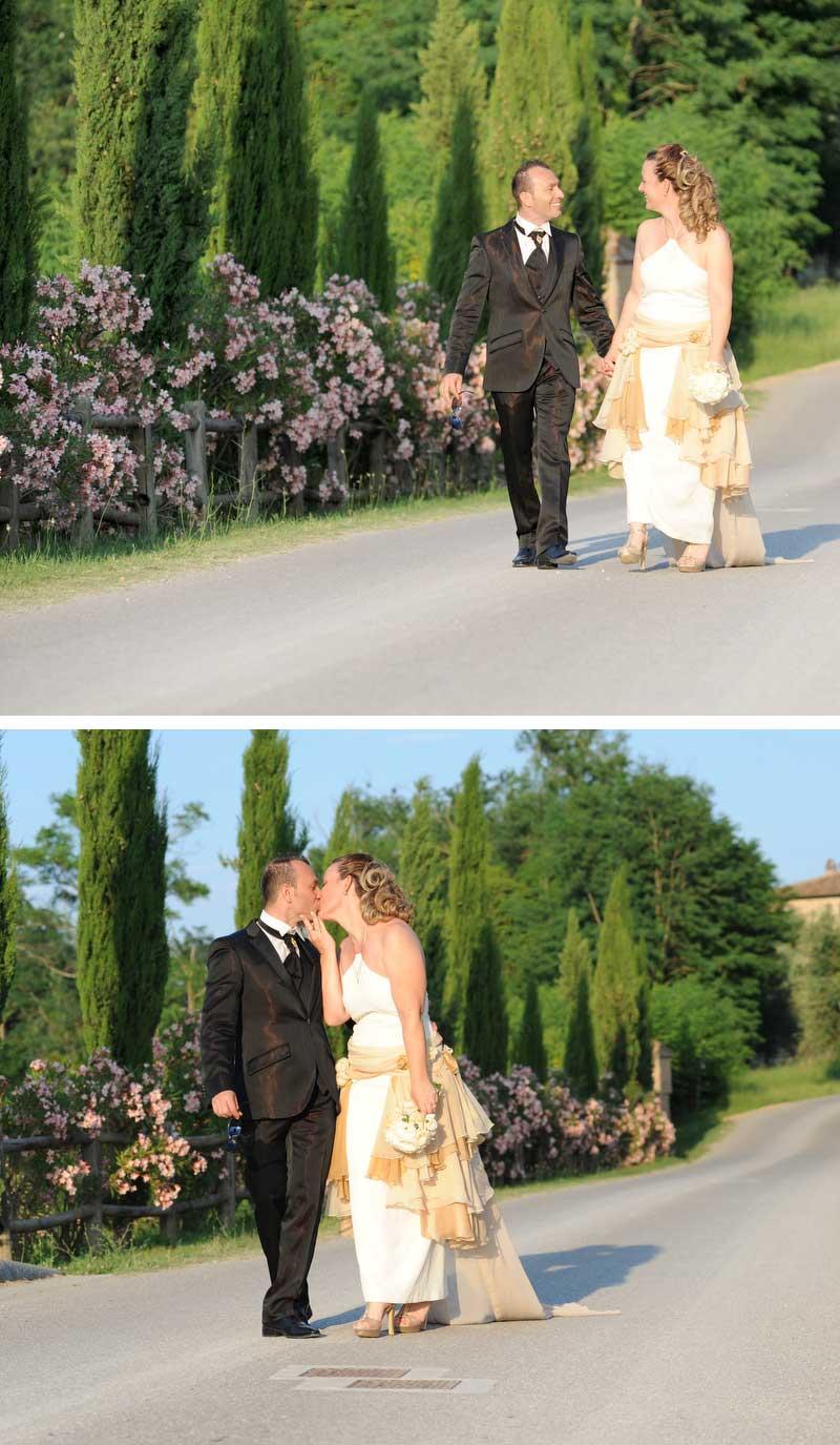 passeggiata dopo il Matrimonio country chic
