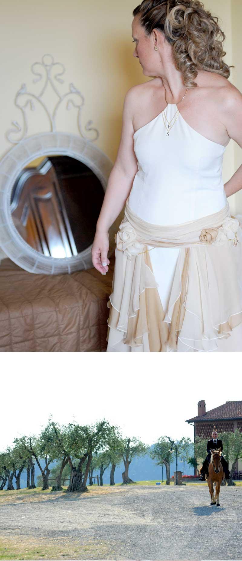 abito sposa country chic scollatura americana
