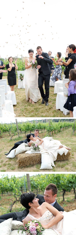 Matrimonio Country Tema Vino: Lancio del riso... anzi no dei tappi di sughero