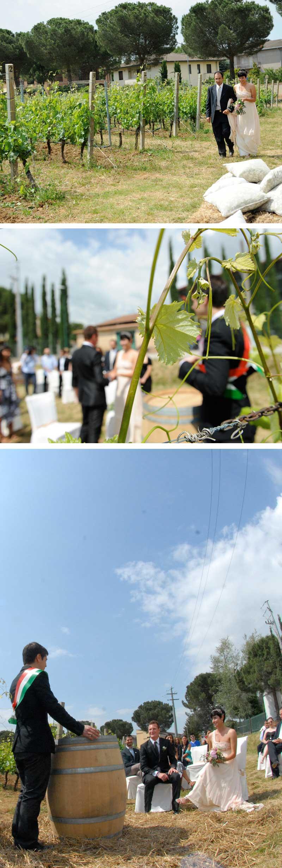 Matrimonio Country Tema Vino: Celebrazione nella vigna da parte del sindaco di Torgiano