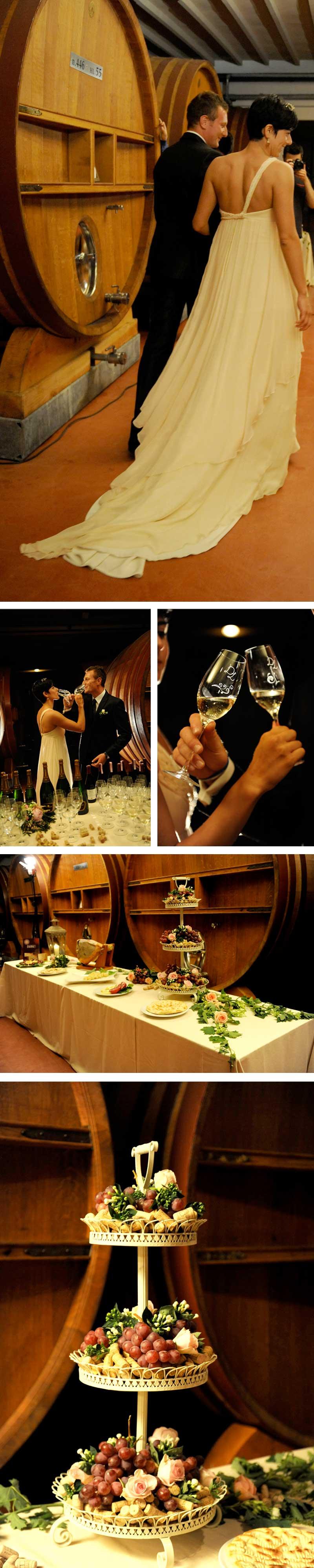 Matrimonio Country Tema Vino: Aperitivo con degustazione vini