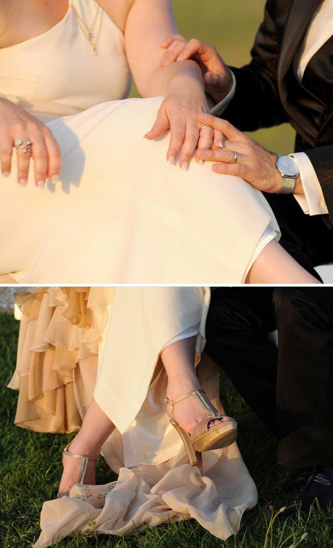 scarpe per abito sposa country chic