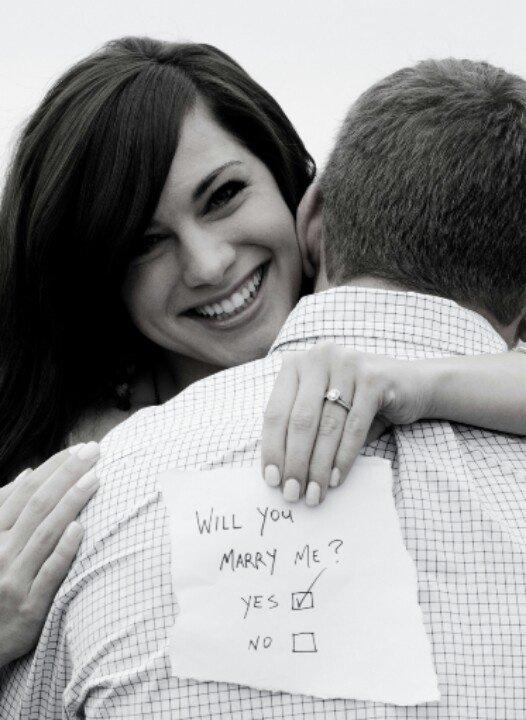 anello di fidanzamento proposta