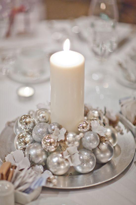 Matrimonio Invernale Centrotavola natalizio