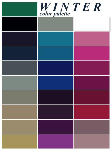 Palette colori tema Matrimonio invernale