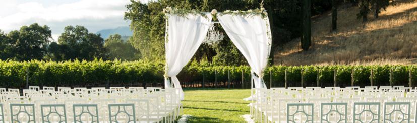 wedding reception ideas: clos pegase