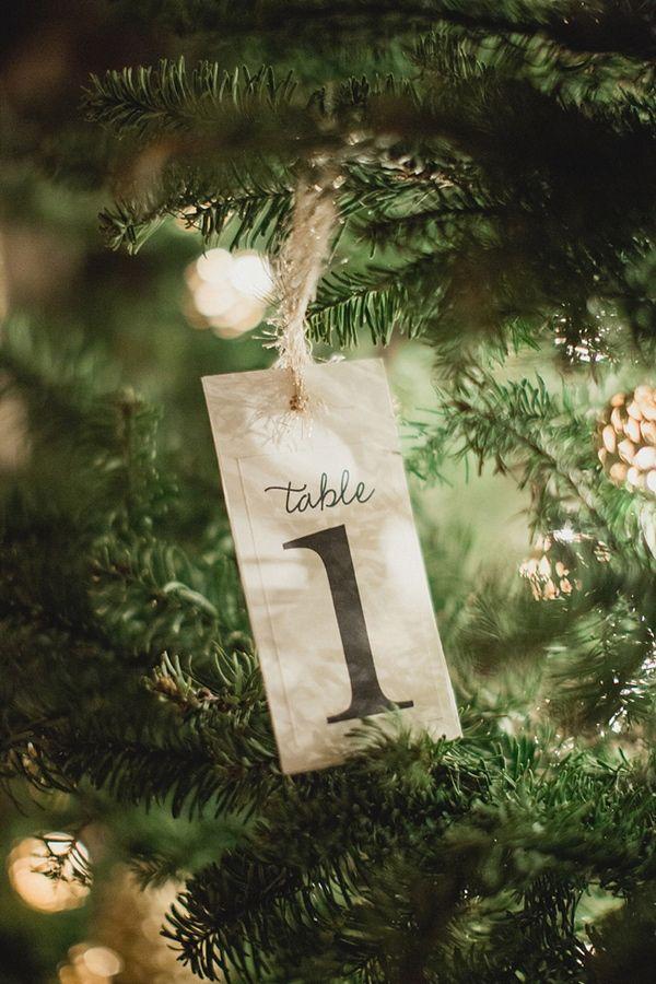 Plan de table mariage d'hiver