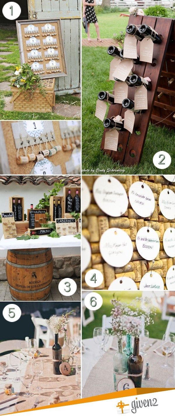 Wedding Table Names | Wine Theme