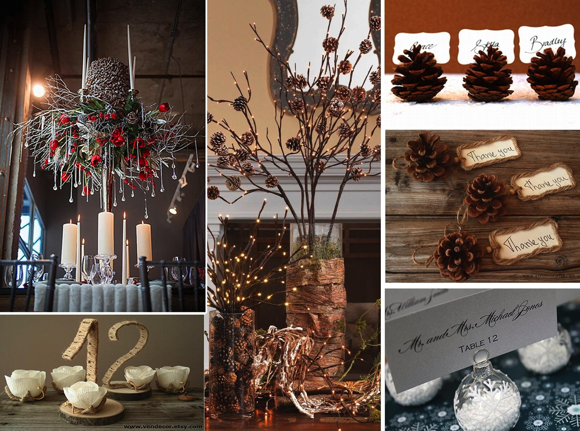 winter wedding ceterpieces decoration