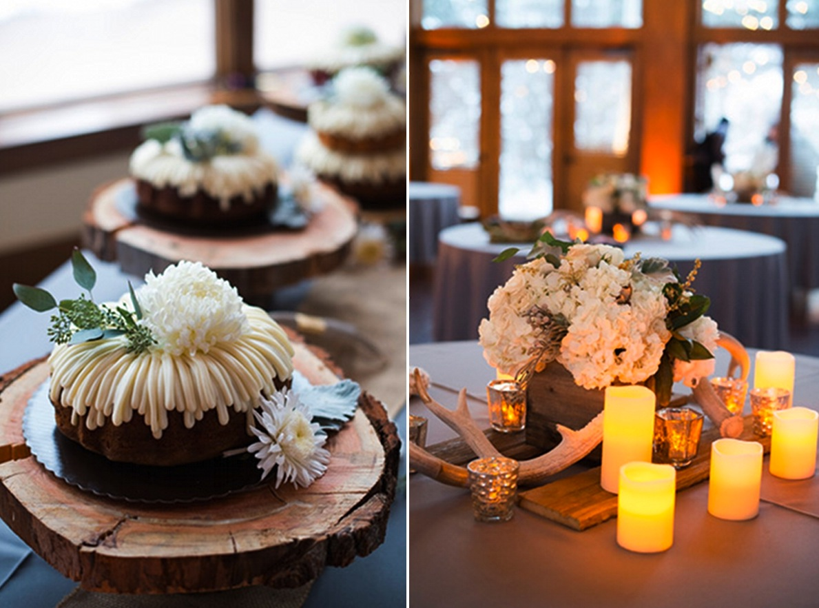 winter wedding ideas wedding cake