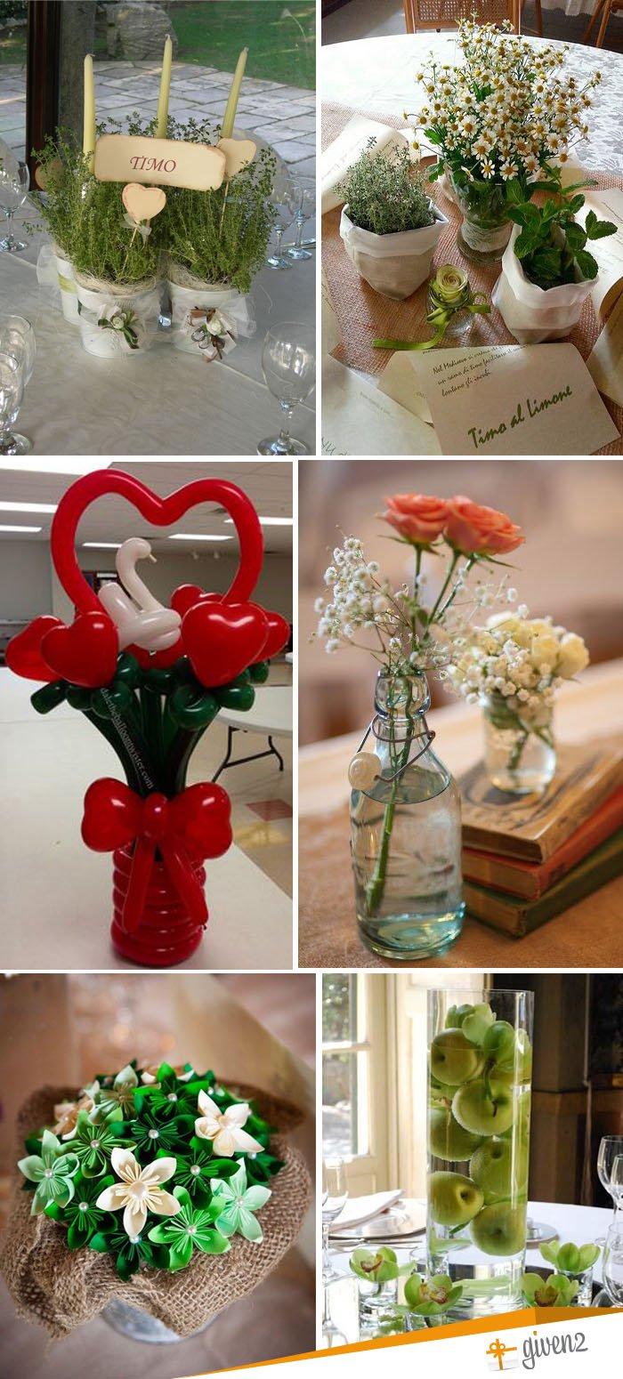 eco-friendly wedding centerpieces