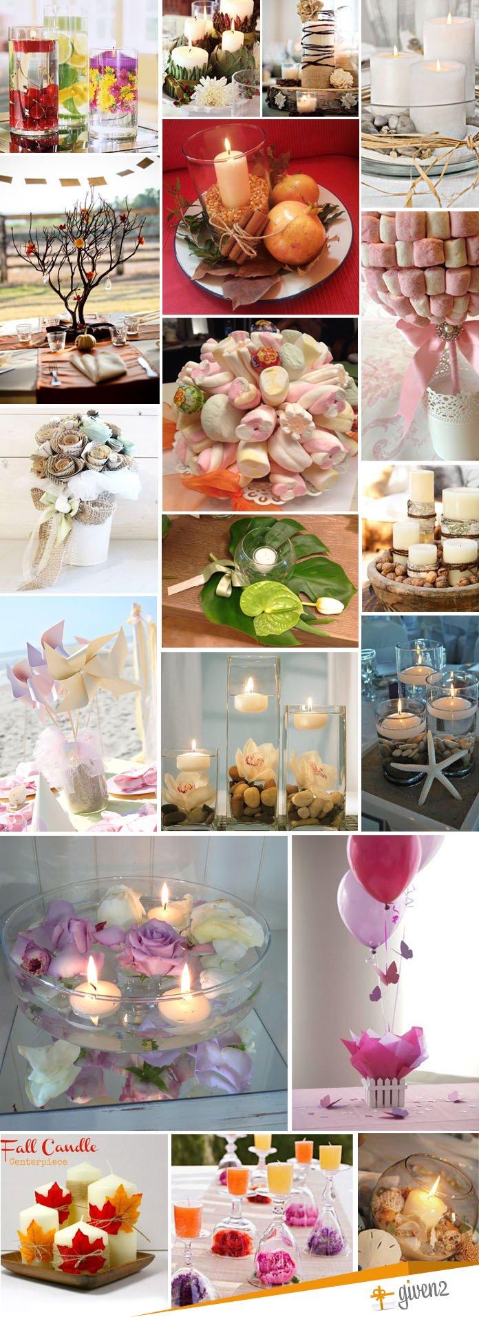 centros de mesa para bodas bricolaje