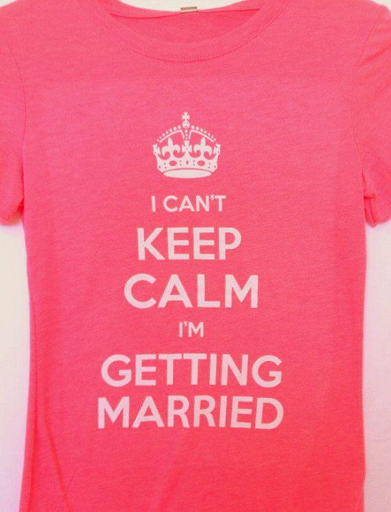 maglietta addio al nubilato keep calm
