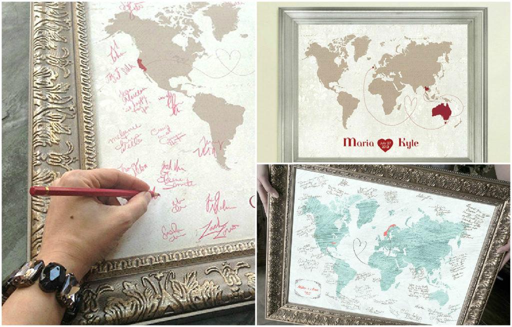 wedding guest book maps