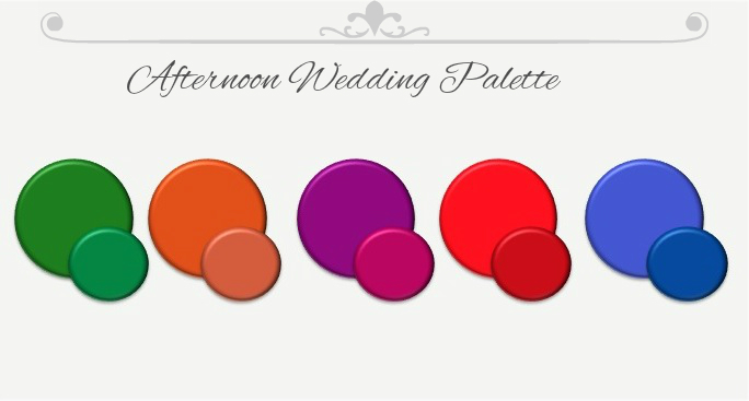 What to Wear to a Wedding: afternoon wedding palette