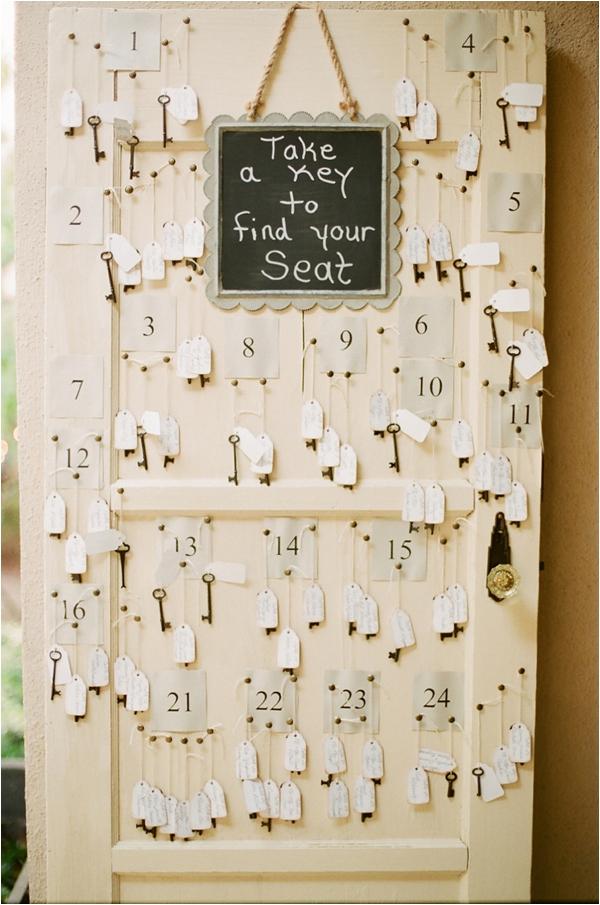 wedding reception seating chart keys