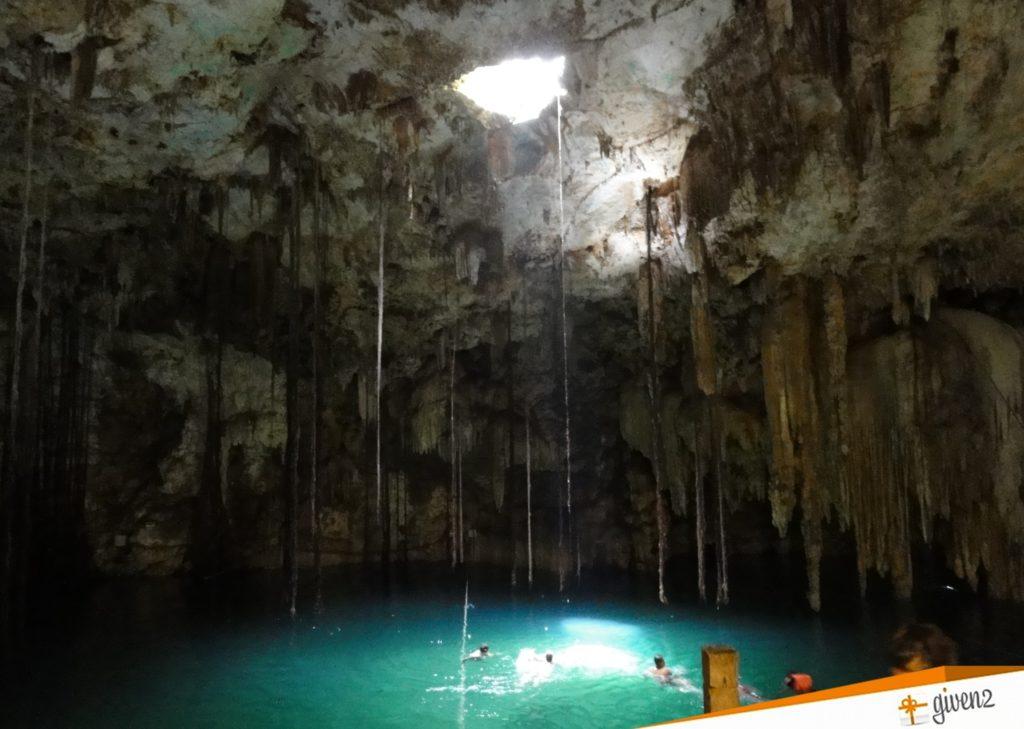 honeymoon in mexico Cenote Dzitnup