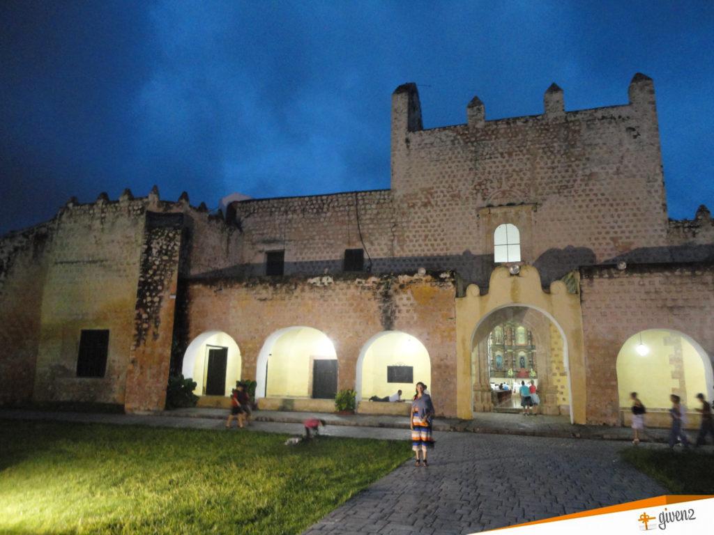 honeymoon in mexico villadolid Templo de San Bernardino and Convento de Sisal