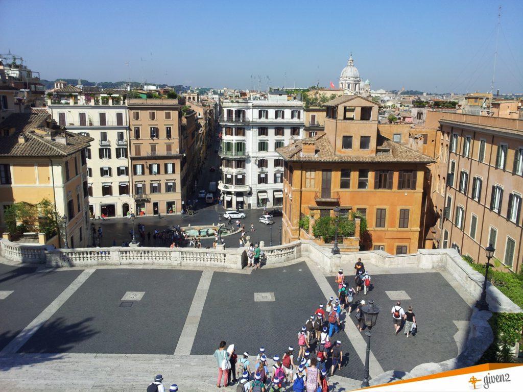 Italy honeymoon itinerary Spanish steps