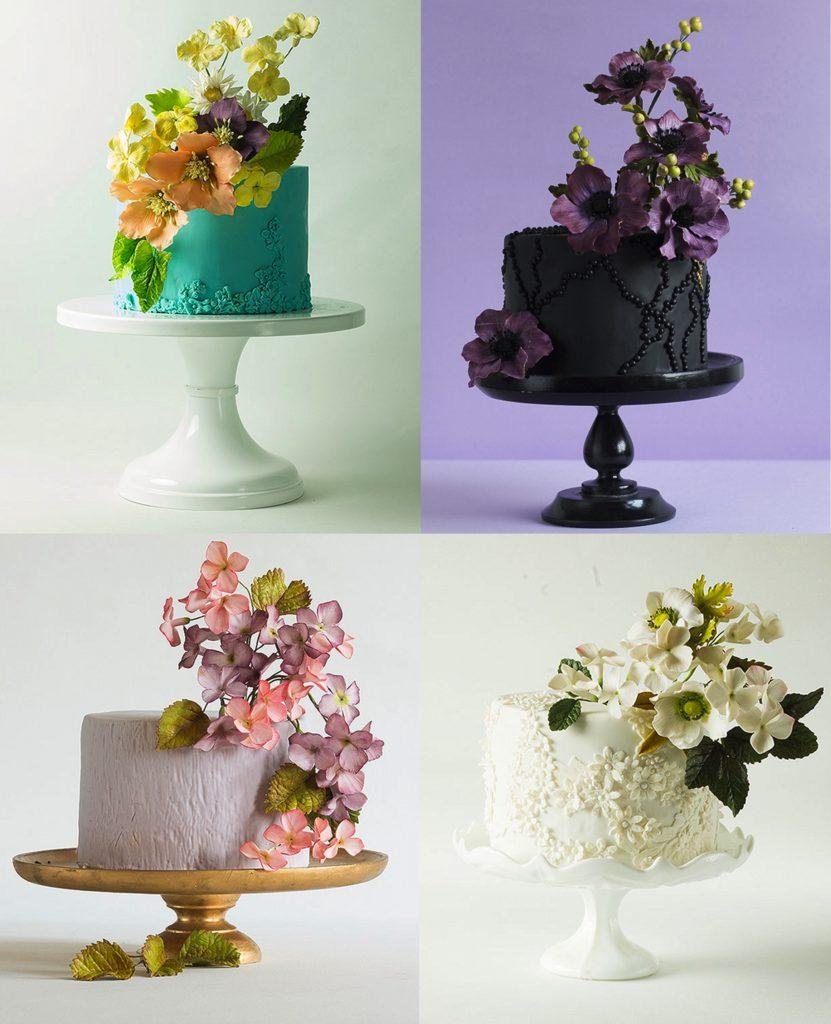 single-layer wedding cake